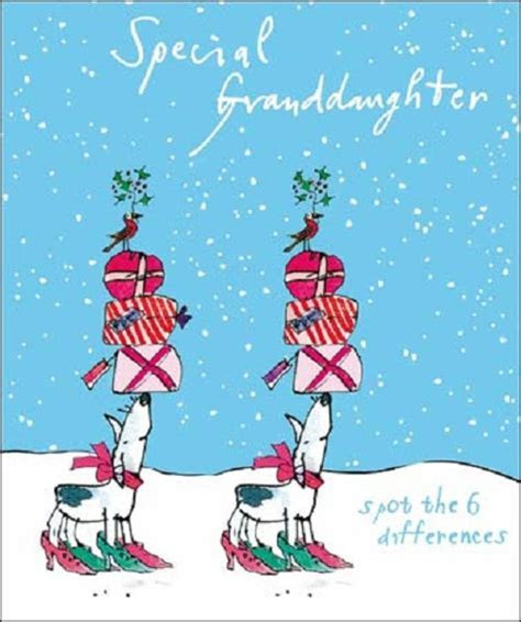 Special Granddaughter Quentin Blake Christmas Card   Cards