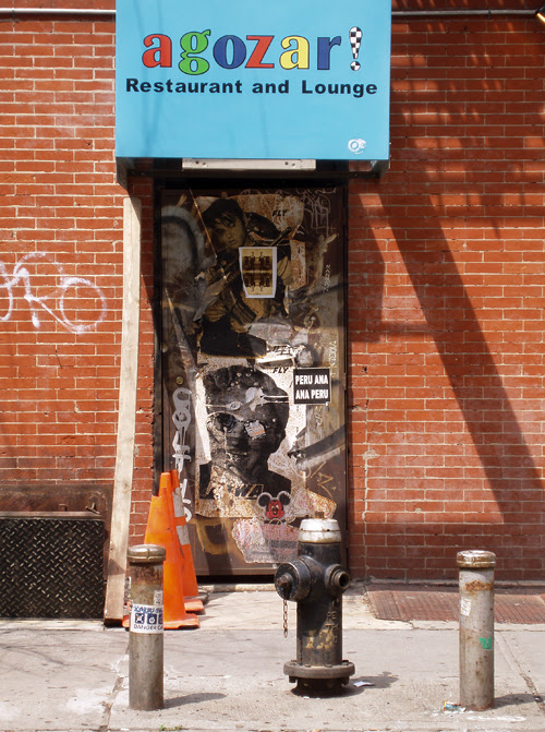 agozar's side entrance, Manhattan, NYC