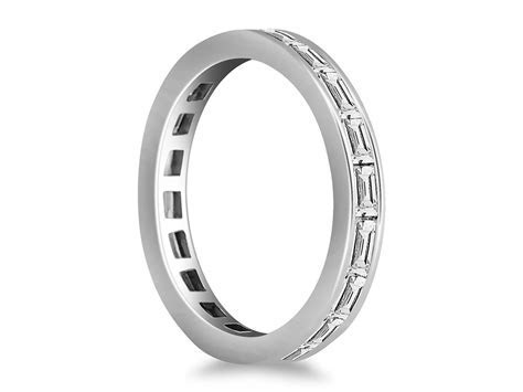Channel Set Baguette Diamond Eternity Ring in 14k White