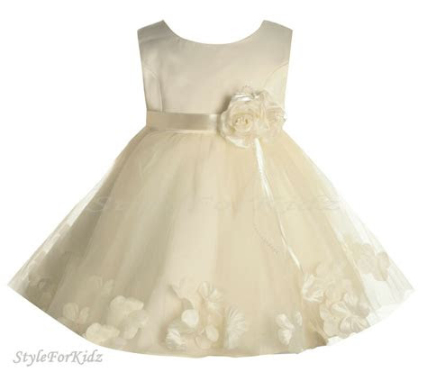 baby girls ivorycream christening wedding bridesmaid