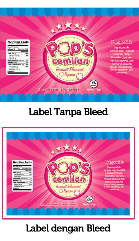 bleed label
