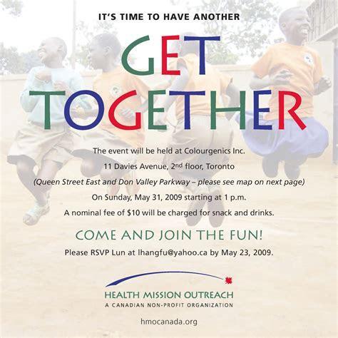 Get Together Invitation Message
