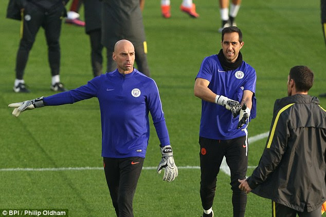 Willy Caballero is set to start in goal for City due to to Claudio Bravo's suspension