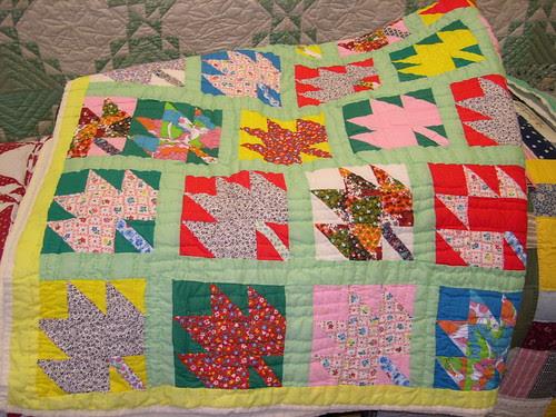 Rosie Wilkins Maple Leaf Quilt