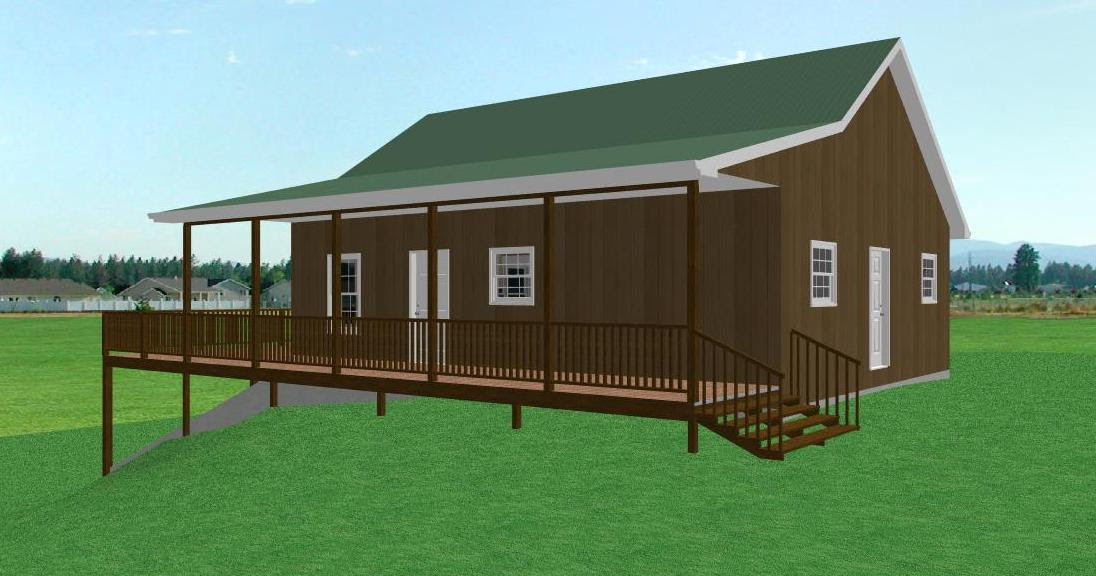 Small Country Cabin House Plan, Cabin with Walkout Basement : The ...