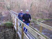 Drew and Donald on White Bridge