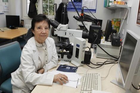 María Luisa Martínez-Frías, directora del CIAC, en el laboratorio. | Sergio González