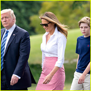 President Trump, Melania, & Barron Depart DC for Fourth of July