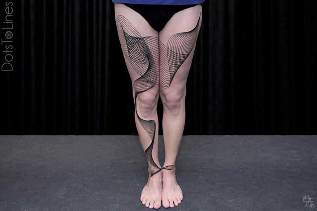 Estas 20 tatuagens lineares geométricas feitas por Chaim Machlev flutuam elegantemente pelo corpo 17