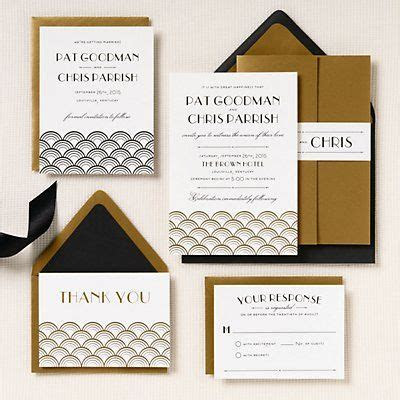 Gold Scallops Wedding Invitation   Pat & Chris   Paper