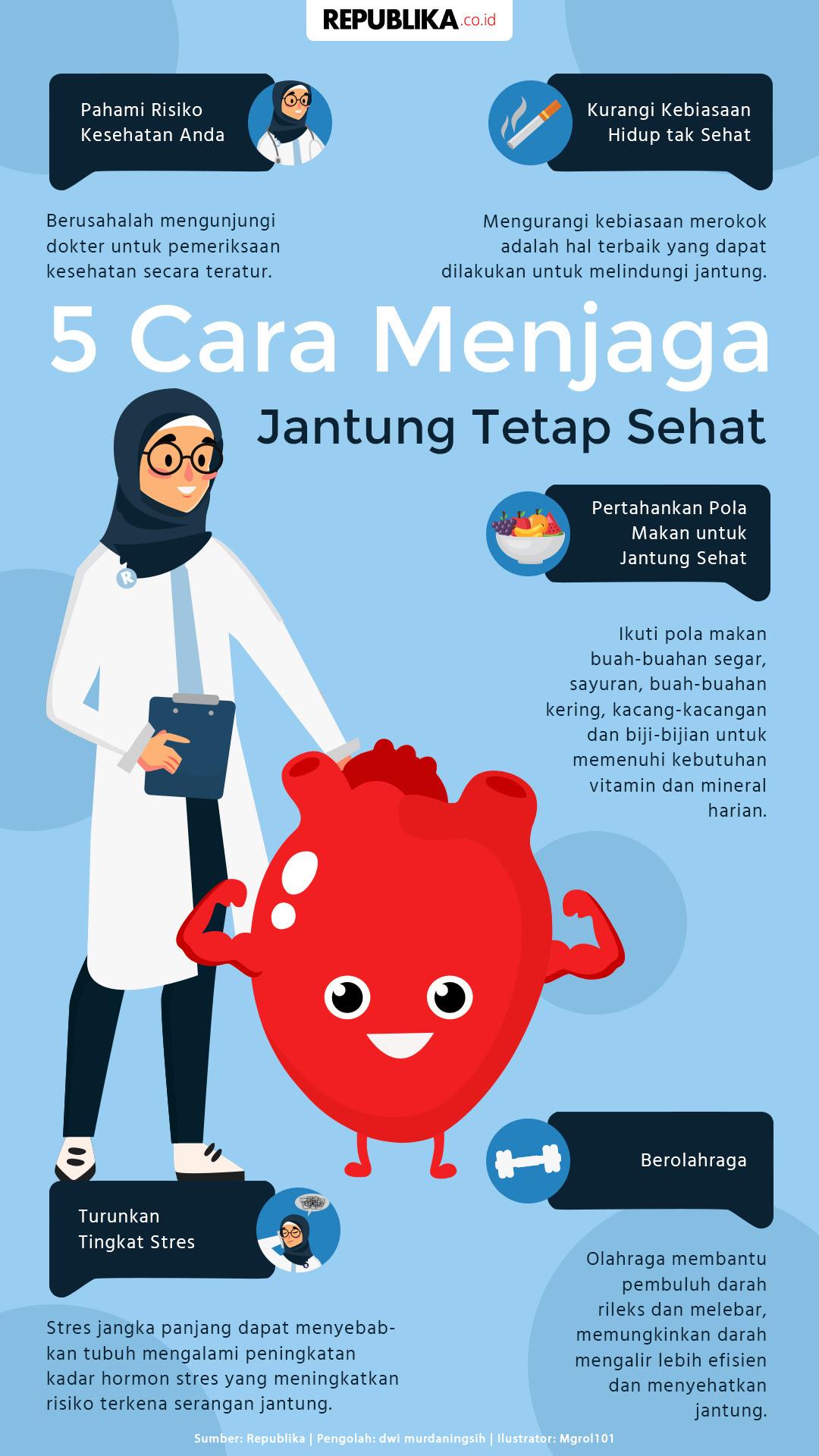 5 Cara Menjaga Jantung Tetap Sehat Republika Online