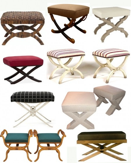 X stool benches.  Every one needs two.