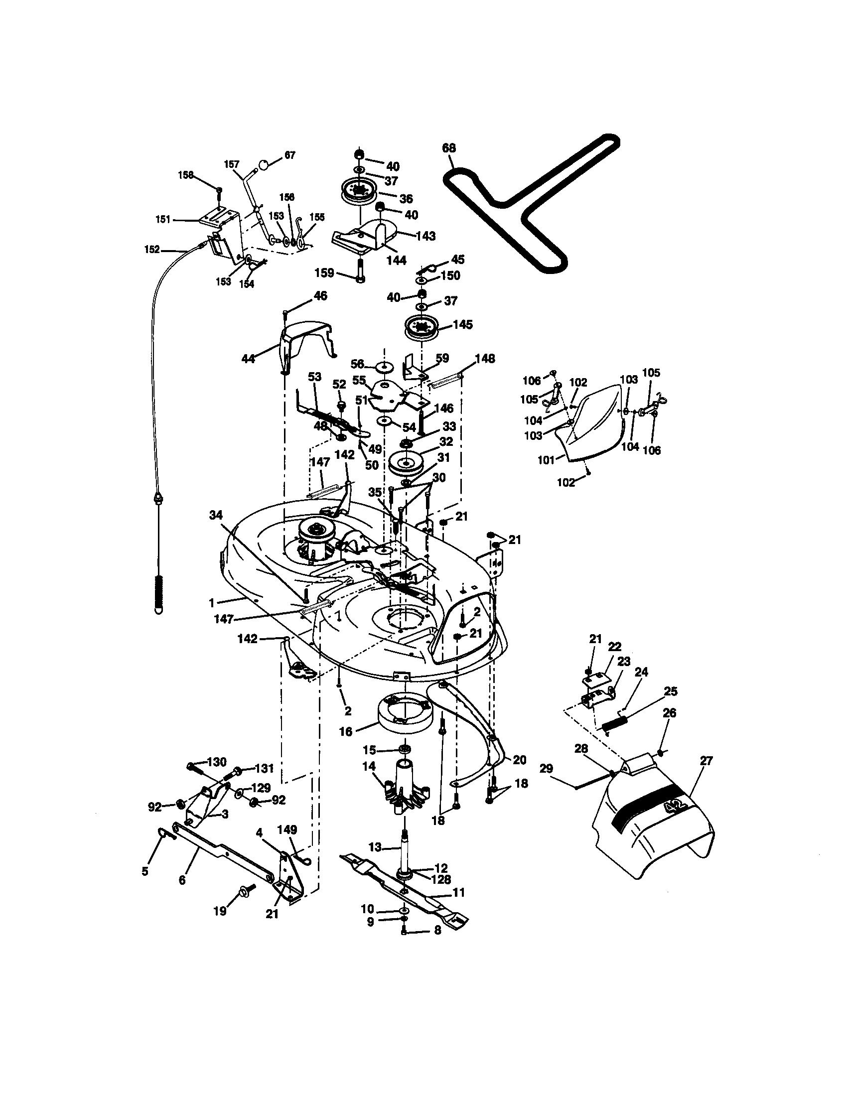 31 Craftsman Ltx 1000 Parts Diagram