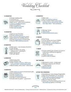 basic wedding checklist printable wedding checklist
