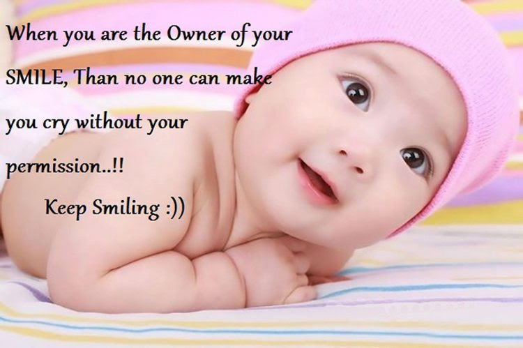 Sweet And Cute Baby Smile Quotes With Awesome Pictures