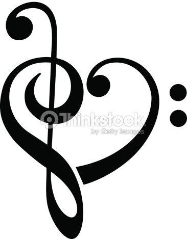 Bass Y Clave De Sol Corazón Música Clásica Arte Vectorial Thinkstock