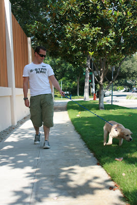 Jason in Hollywood and Cooper go for his first walk