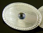 Carrington sapphire and diamond cufflinks. (J9343)