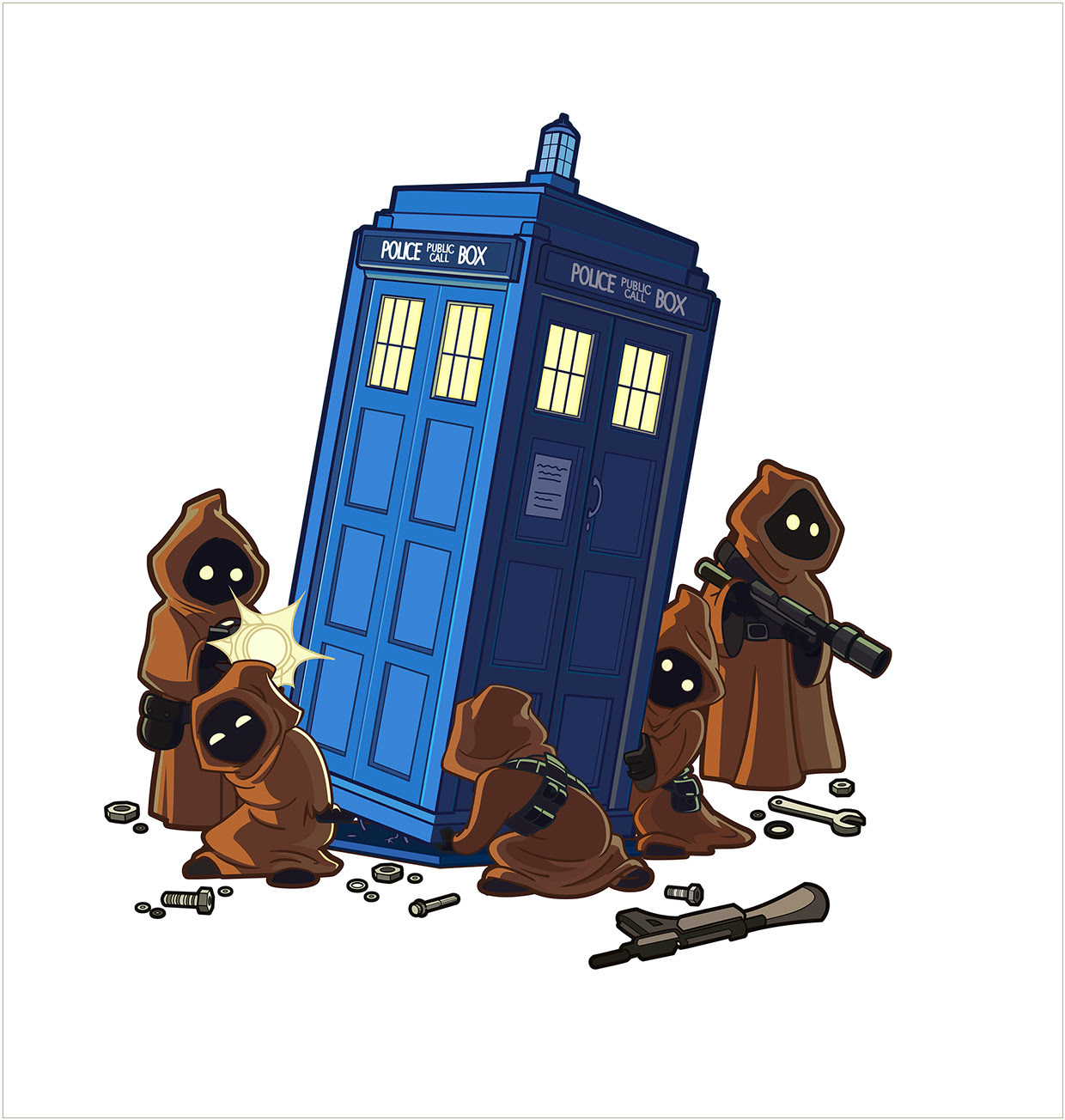 Jawas and the TARDIS by Gabriela Omann
