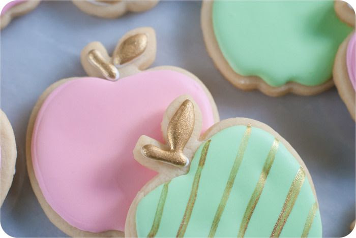golden delicious apple cookies : tips and decorating tutorial