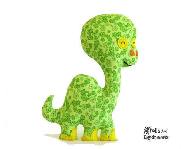 brontosaurus dinosaur sewing pattern easy
