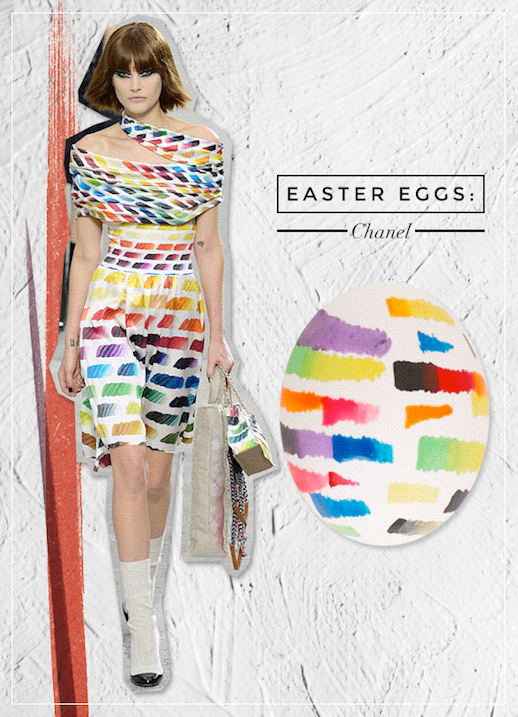 Le Fashion Blog DIY Inspiration Fashion Inspired Easter Eggs Via Style Caster Chanel Water Color Paint Print Dress Chic Style Holiday Decor Ideas Serena Abraham Tinsel & Twine 1 photo Le-Fashion-Blog-DIY-Inspiration-Fashion-Inspired-Easter-Eggs-Via-Style-Caster-Chanel-1.png