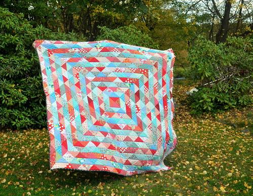 Scrappy warm/cool quilt