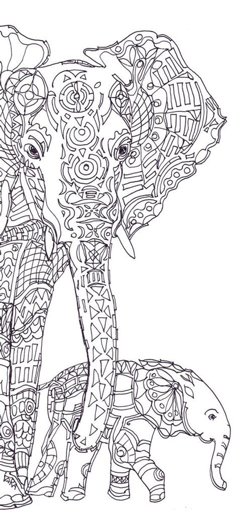 elephant clip art coloring pages printable adult coloring