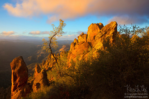 Sunset on High Peaks, Pinnacles National Park, California