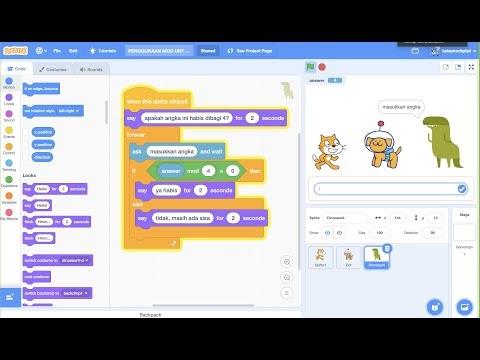 Tutorial Scratch 3.0 : Menggunakan Mod Untuk Game Matematika