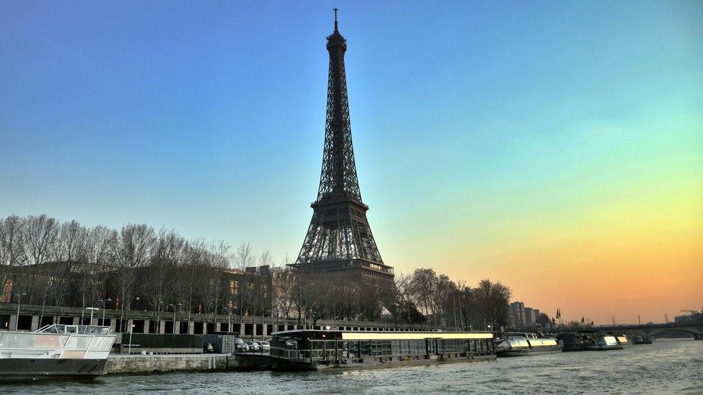 La Tour Eiffel from the Seine, Paris