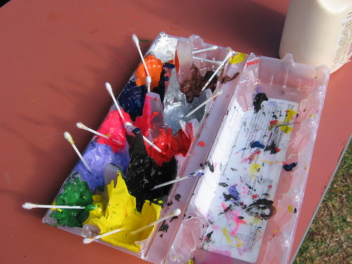 egg carton paint