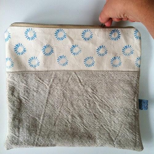 Poppy pouch for squam art fair