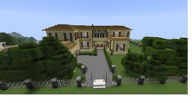 Modern house,Realistic mansion Minecraft Project