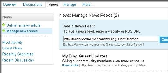 Add news feed