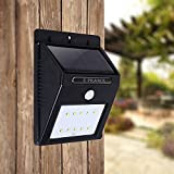 E-PRANCE® ソーラー充電式LEDライト センサーライト ソーラーライト アウトドアライト 防水 太陽発電 省エネ 屋外照明/軒先/庭/ガーデン/ドライブウェイ/玄関周りなど