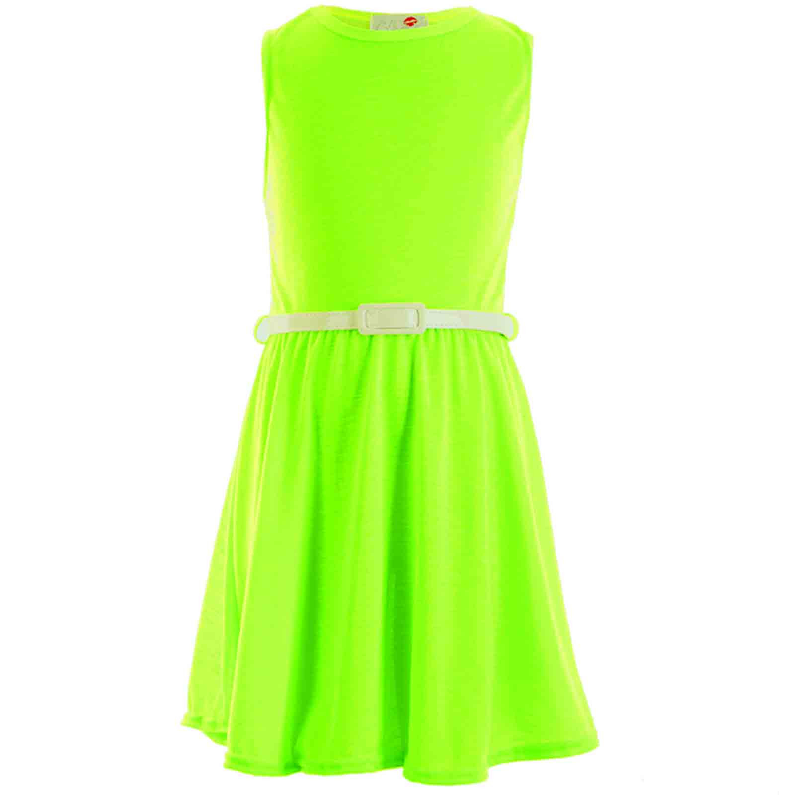 girls skater dress kids neon bright holiday party dresses