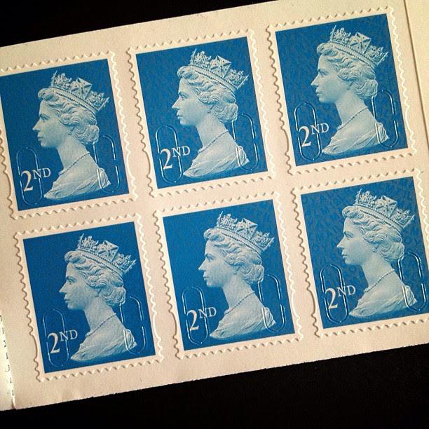 Day 6: Blue #psjune #postagestamp #postalsociety #british #uk #blue #queen #head  #scavengerhunt #challenge