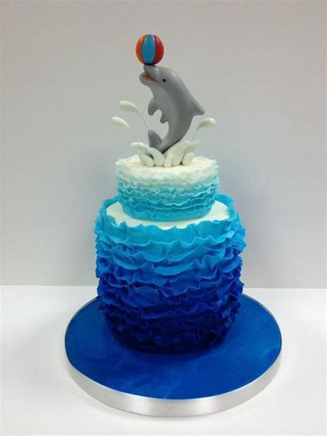 Dolphin Cake   Tilly cakes   Pinterest   Dolphins, Flower