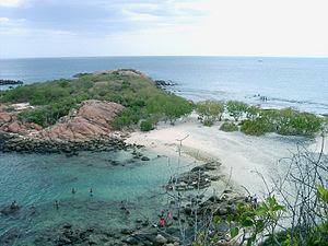 Pigeon Island near Trincomalee in Sri Lanka