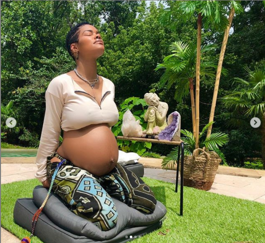 Pregnant Teyana Taylor flaunts her growing baby bump in new photos