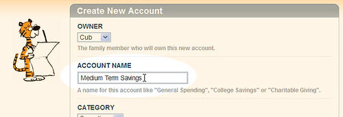 Create Account Form