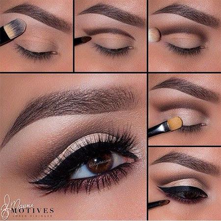 Natural eye makeup step by step