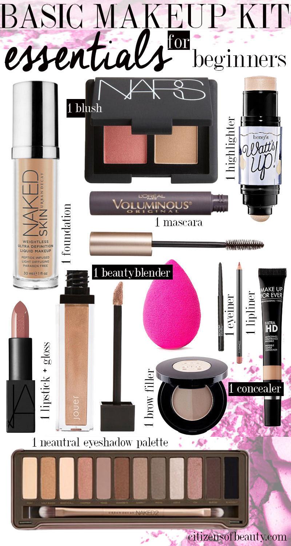 Basic makeup kit for makeup artist