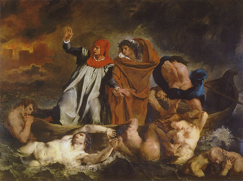 The Barque of Dante, Delacroix