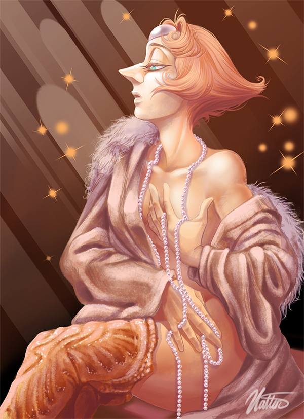 """Portrait of Pearl I digitally painted and heavily based/referenced of a Painting by Greg Norman called """"Pearl"""""""