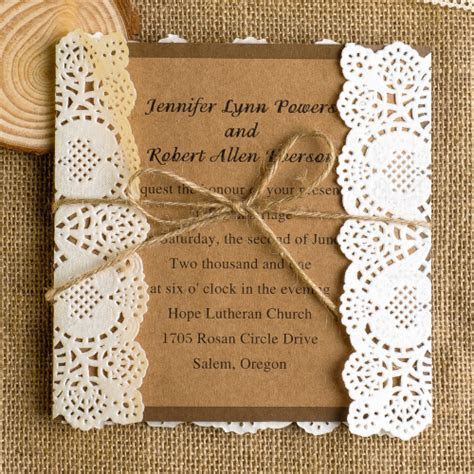 Lace Wedding Invitations Best Choice For Vintage And