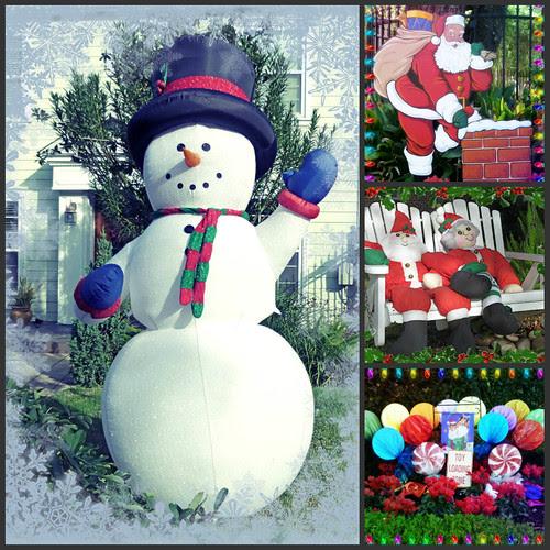 snowman collage