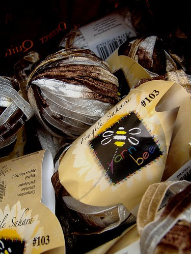 brown ribbon yarn from cristina