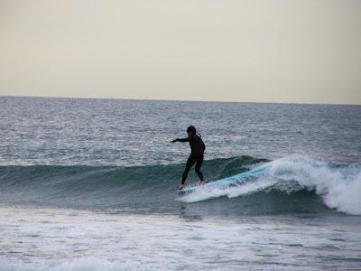 sesión del 2 de abril del 2007 - playa de sopelana - surf longboard